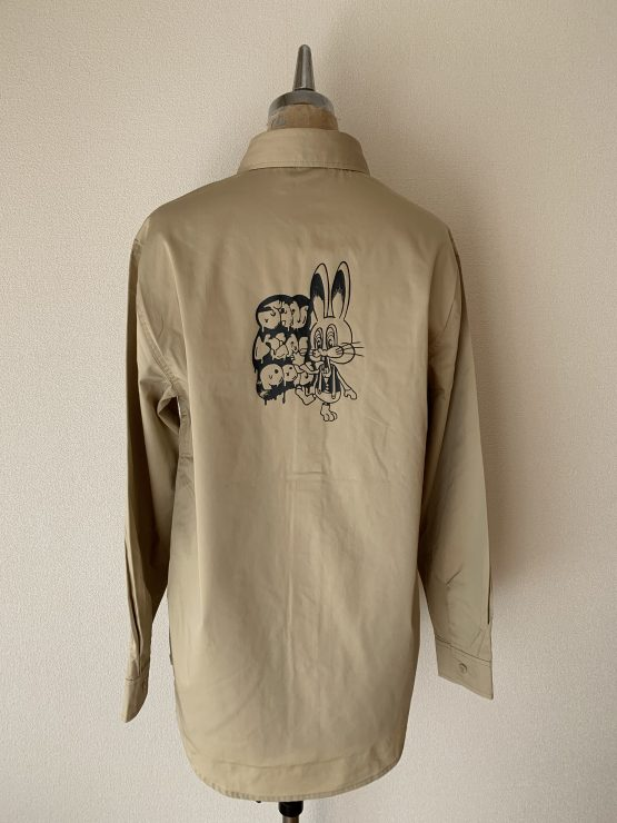 Rabbit workshirt beige back